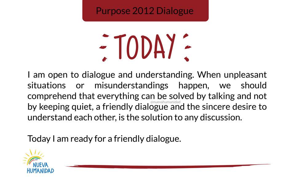 Purpose 2012 Dialogue