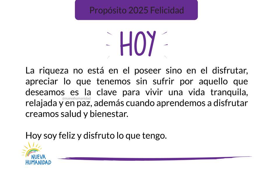Propósito 2025 Felicidad