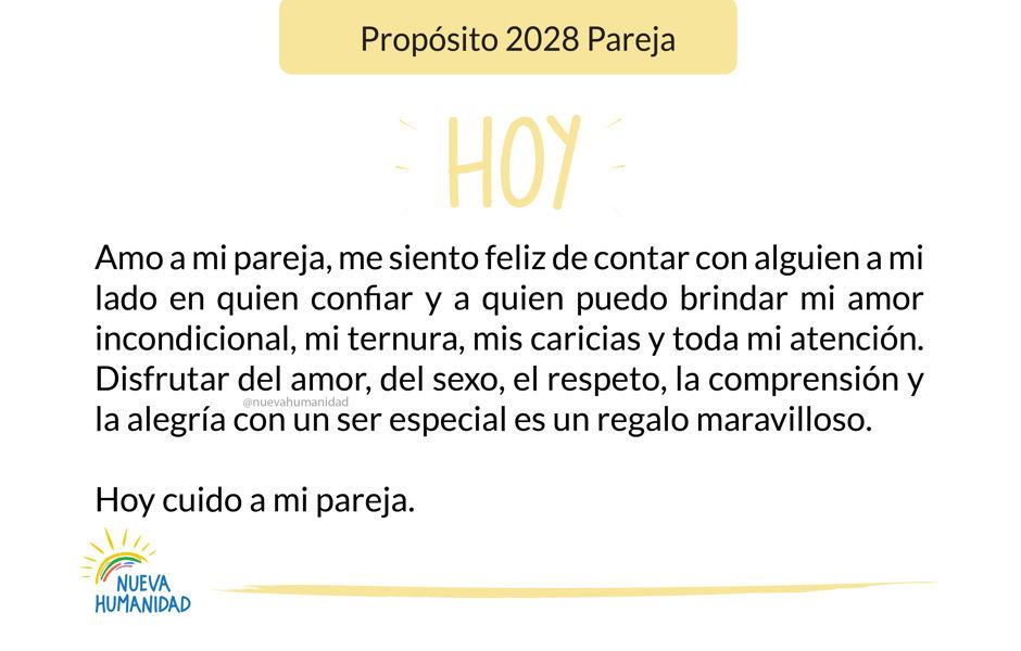 Propósito 2028 Pareja