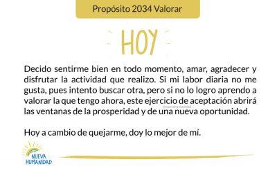 Propósito 2034 Valorar