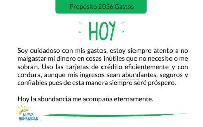 Propósito 2036 Gastos