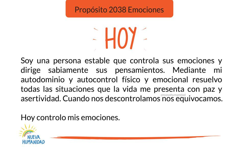 Propósito 2038 Emociones