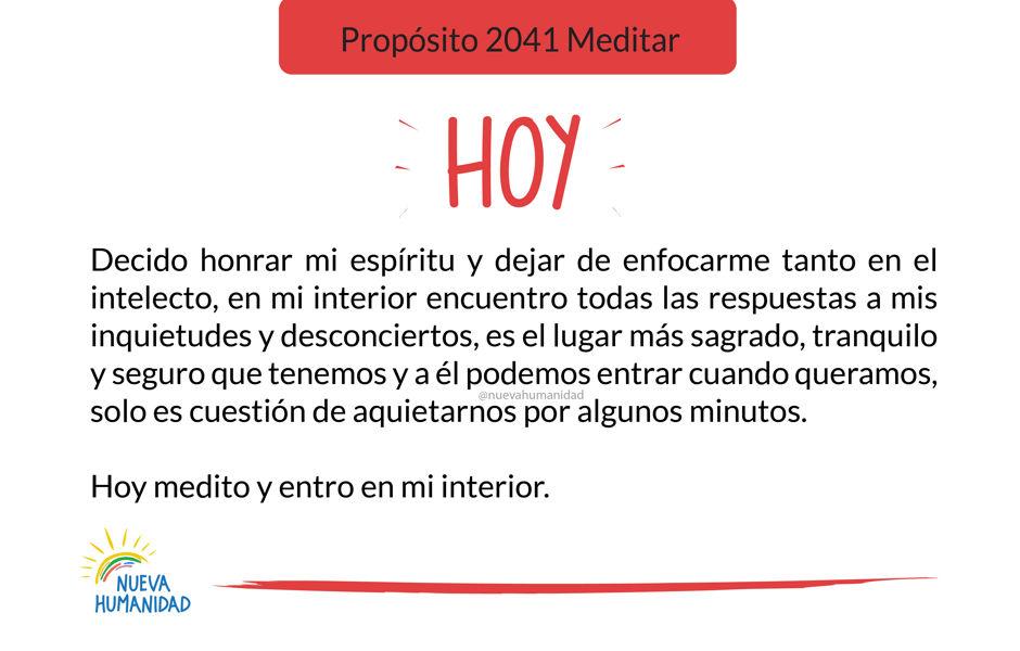 Propósito 2041 Meditar
