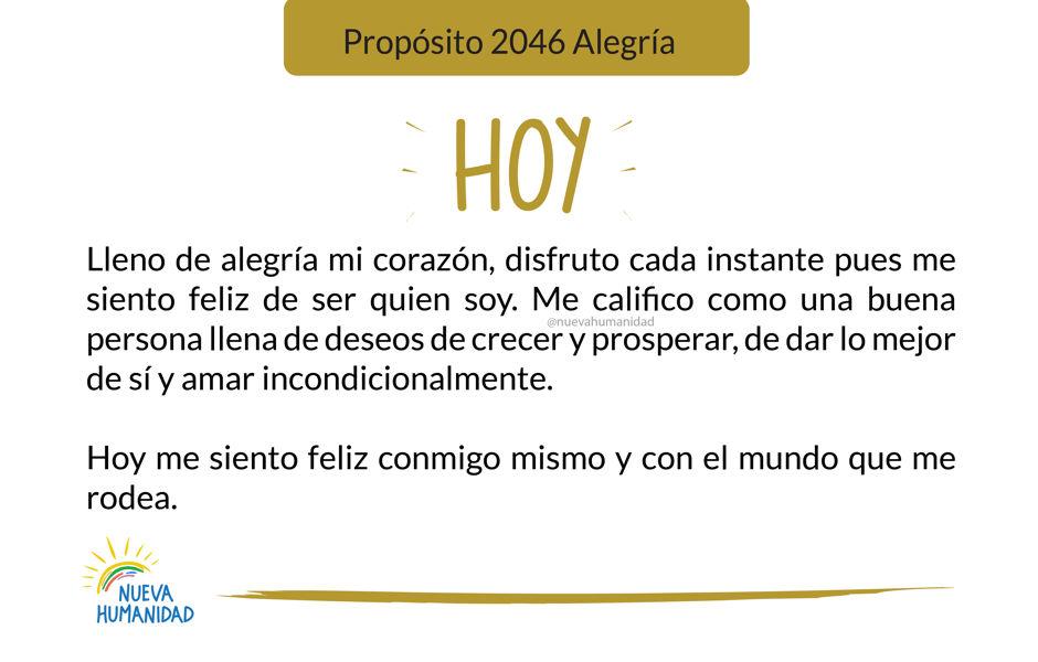 Propósito 2046 Alegría