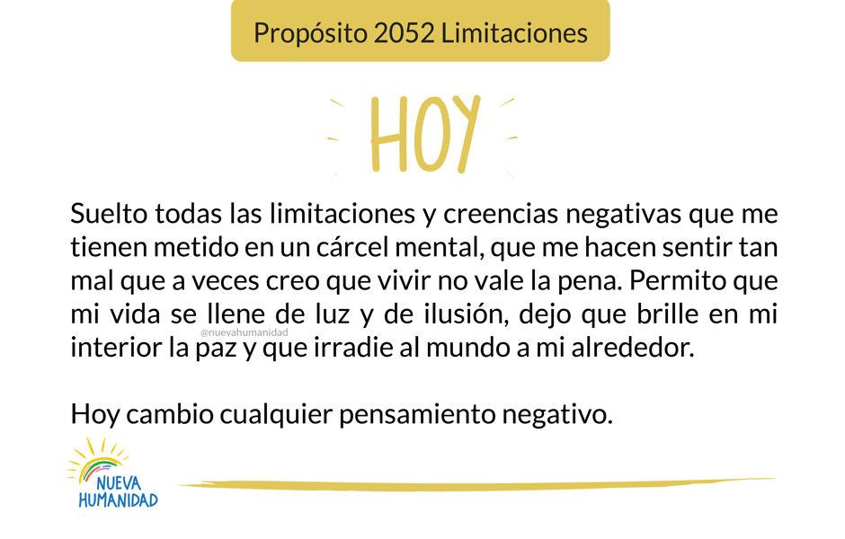 Propósito 2052 Limitaciones