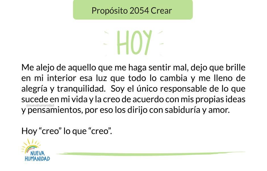 Propósito 2054 Crear