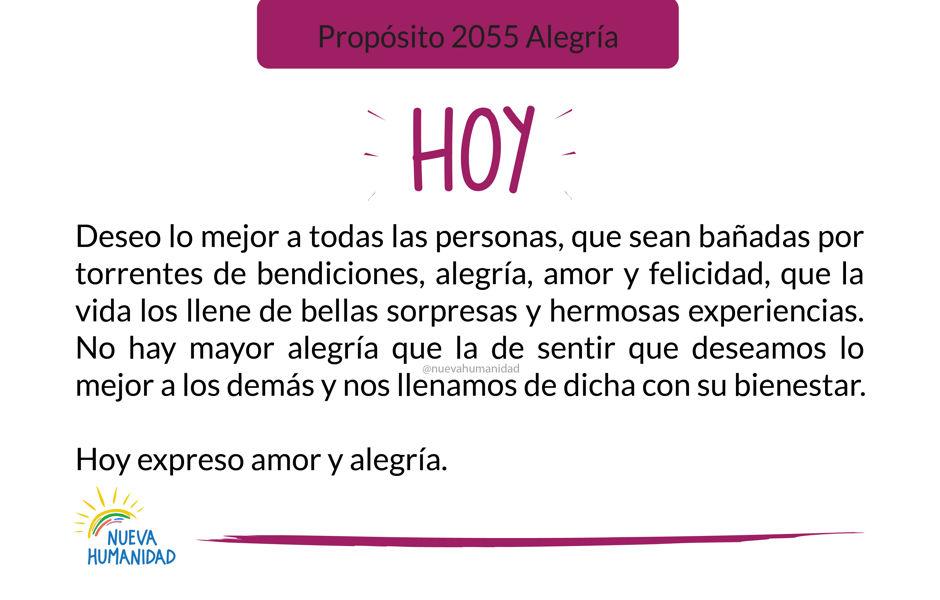 Propósito 2055 Alegría