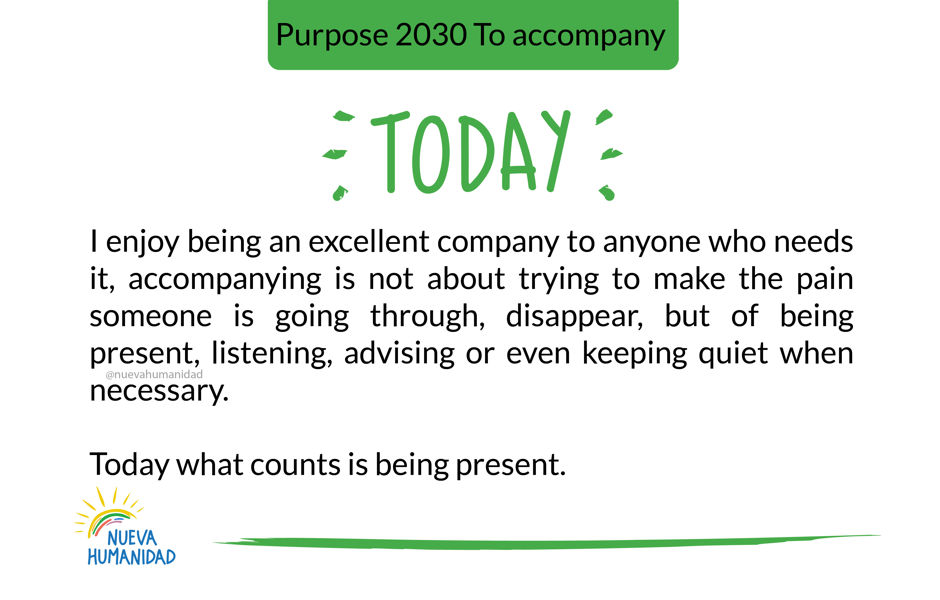 Purpose 2030 To accompany