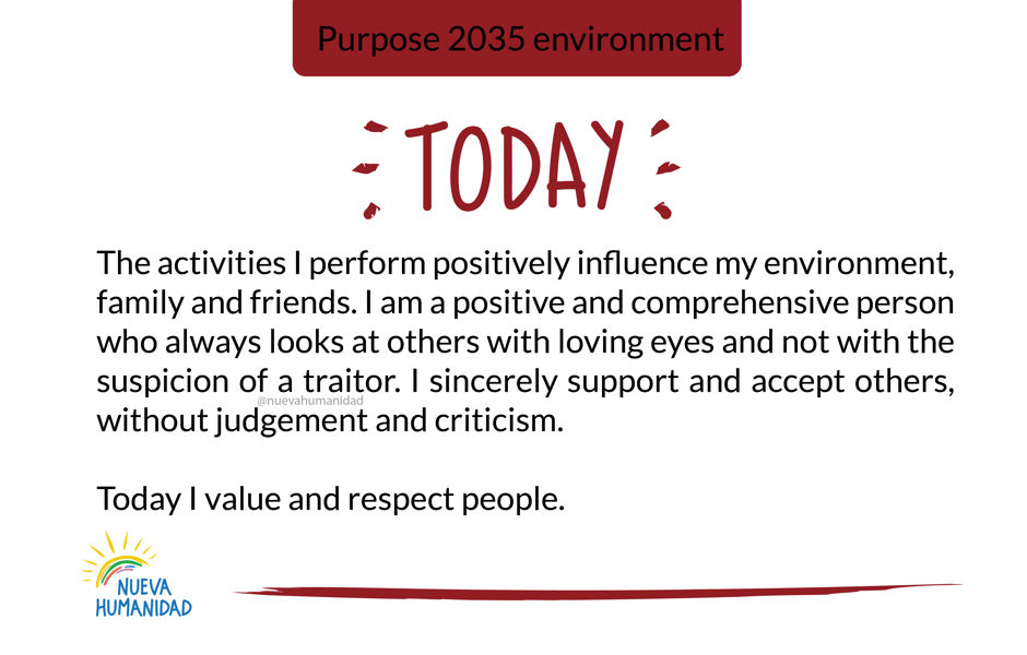 Purpose 2035 environment