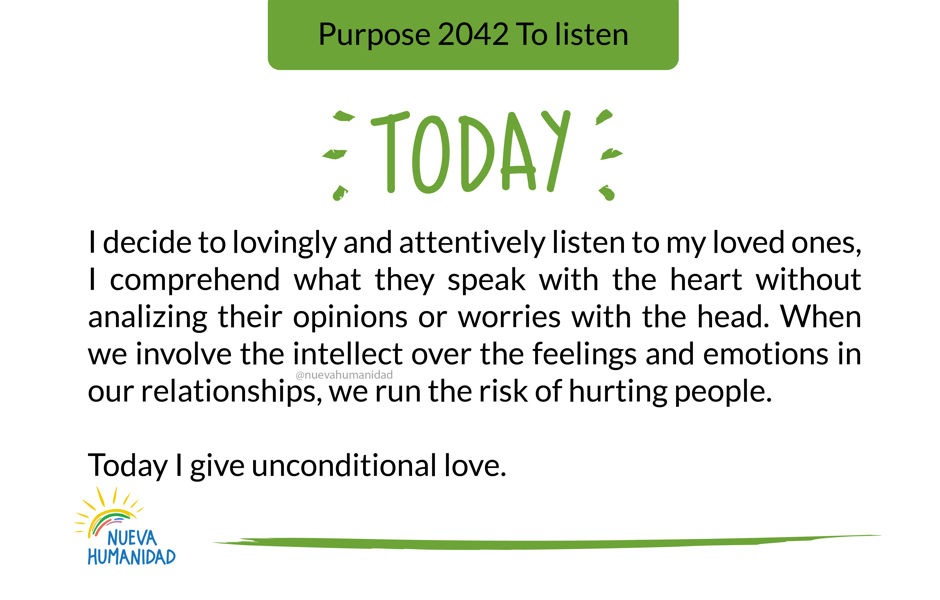 Purpose 2042 To listen