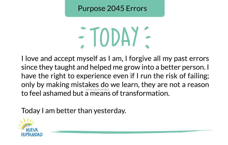 Purpose 2045 Errors