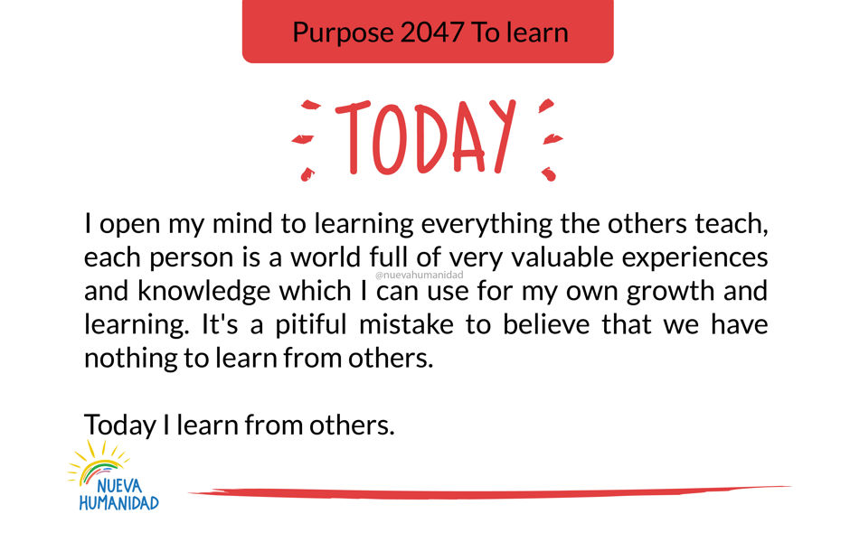 Purpose 2047 To learn