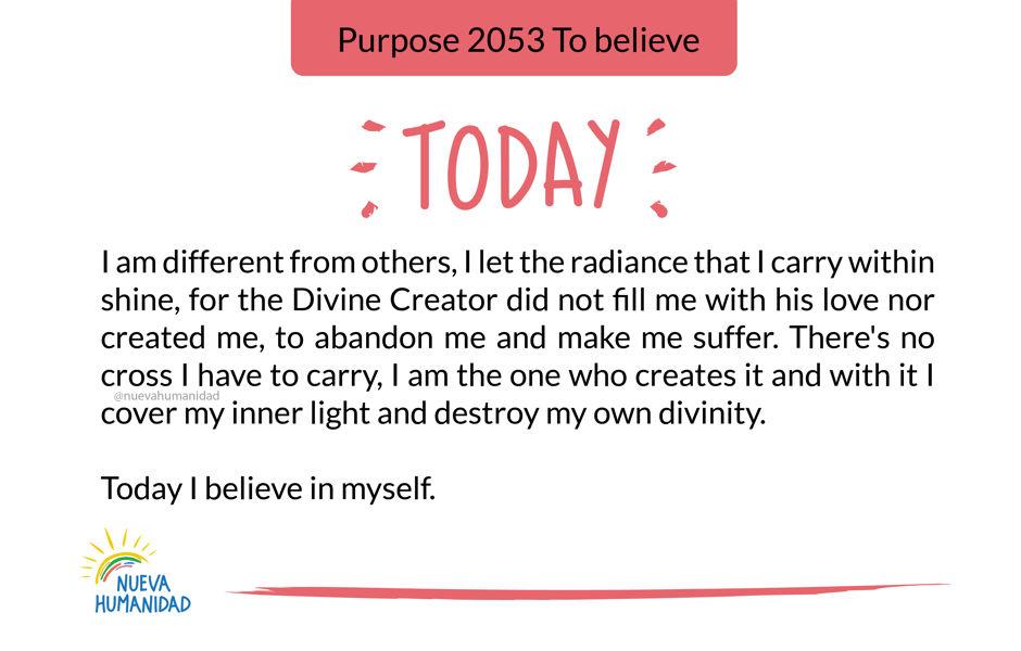 Purpose 2053 To believe