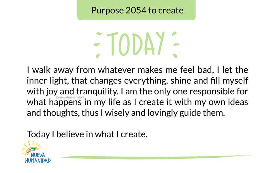 Purpose 2054 to create