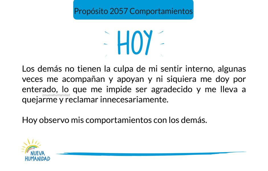 Propósito 2057 Comportamientos