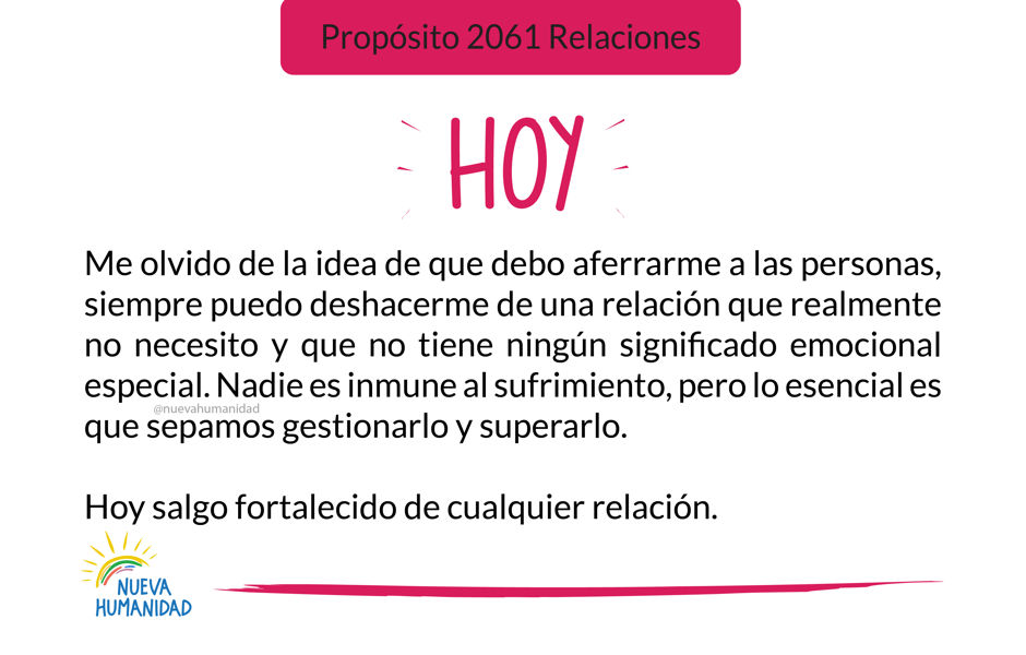 Propósito 2061 Relaciones