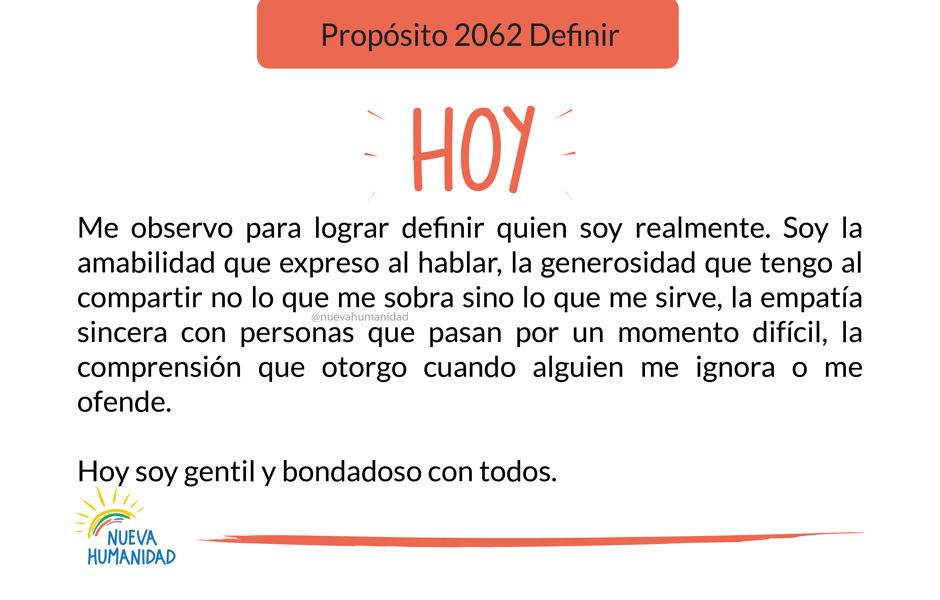 Propósito 2062 Definir