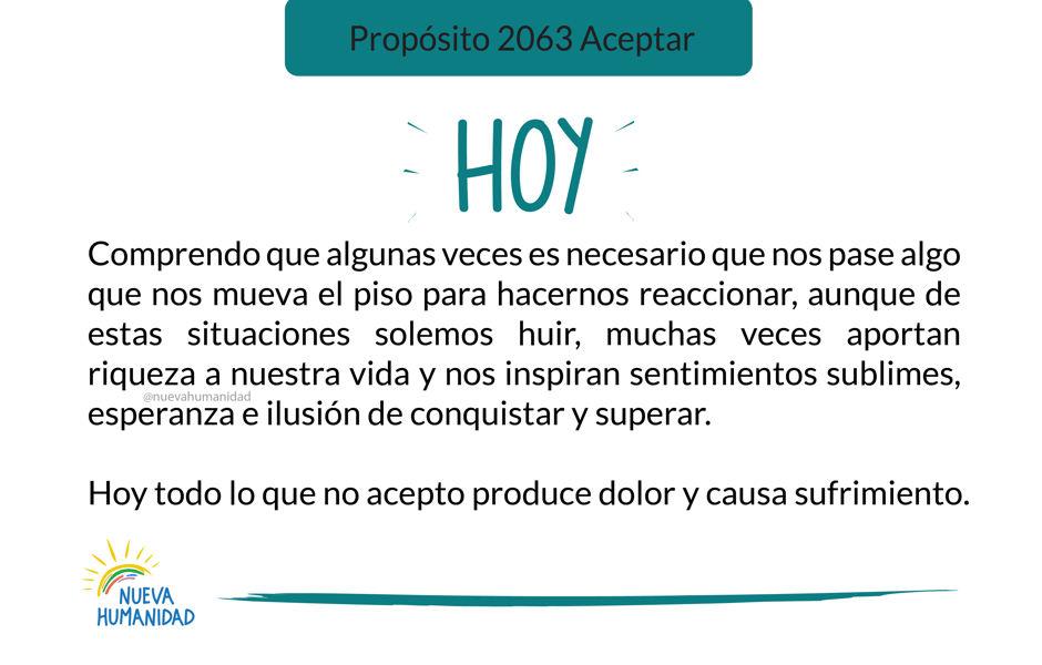 Propósito 2063 Aceptar