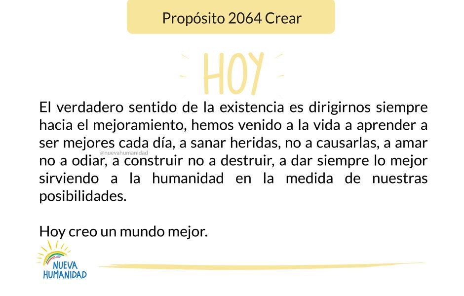 Propósito 2064 Crear