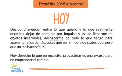 Propósito 2068 Aparentar