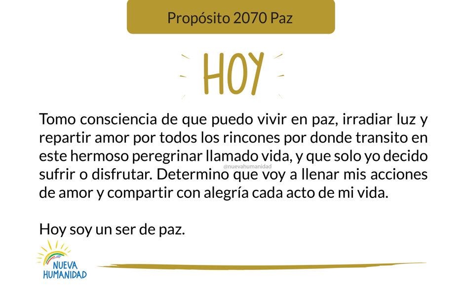Propósito 2070 Paz