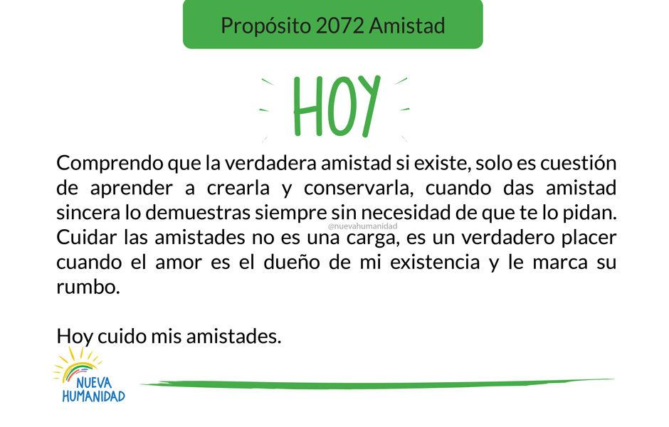 Propósito 2072 Amistad
