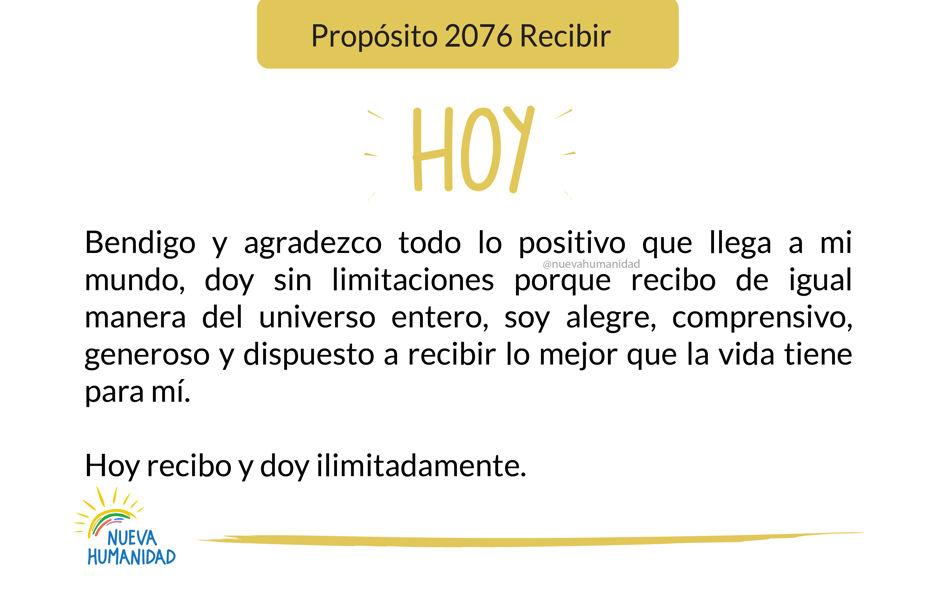 Propósito 2076 Recibir