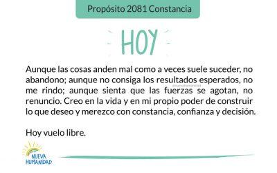 Propósito 2081 Constancia