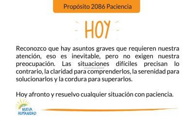 Propósito 2086 Paciencia