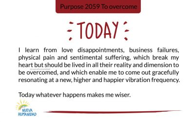 Purpose 2059 To overcome