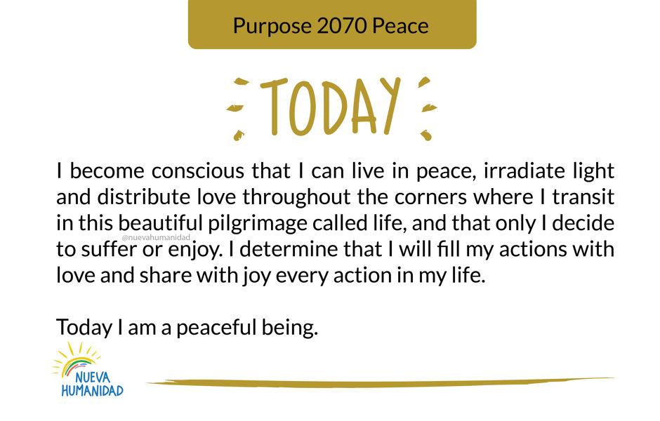 Purpose 2070 Peace