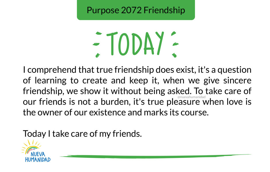 Purpose 2072 Friendship