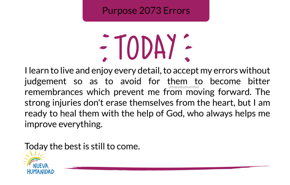 Purpose 2073 Errors
