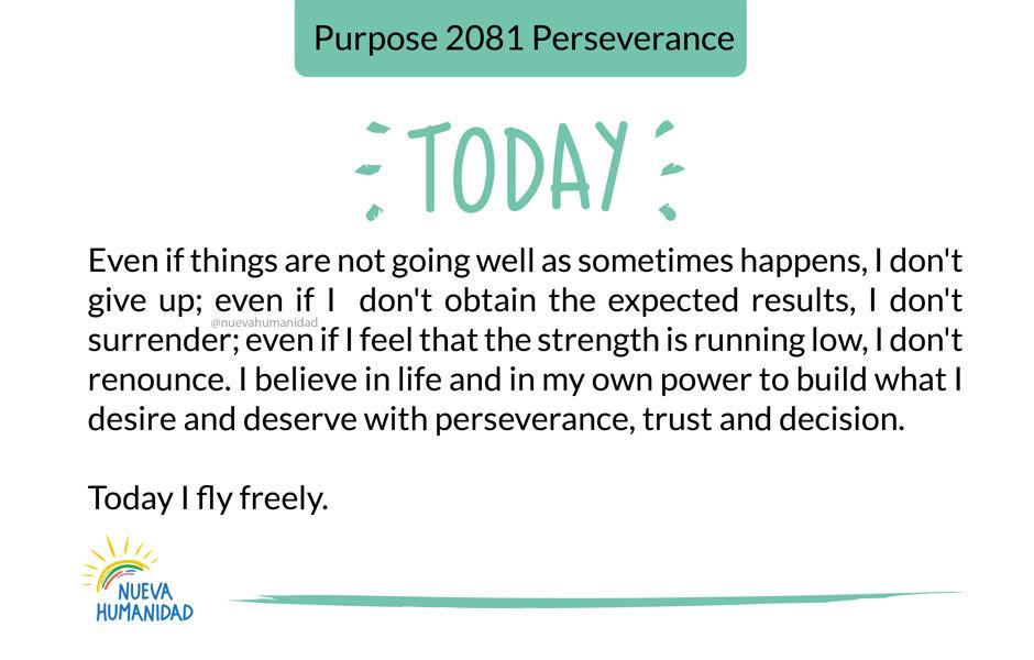 Purpose 2081 Perseverance