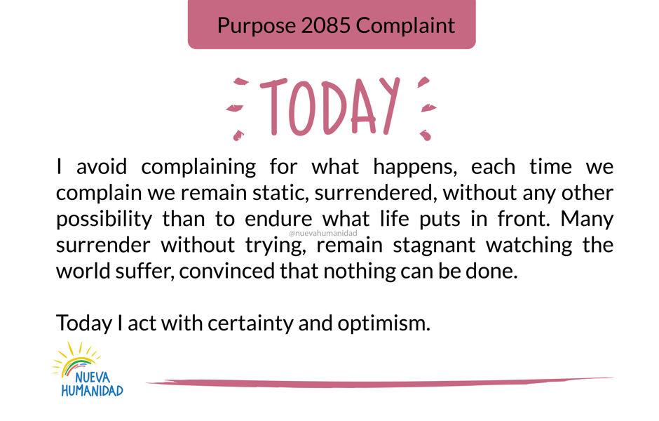Purpose 2085 Complaint