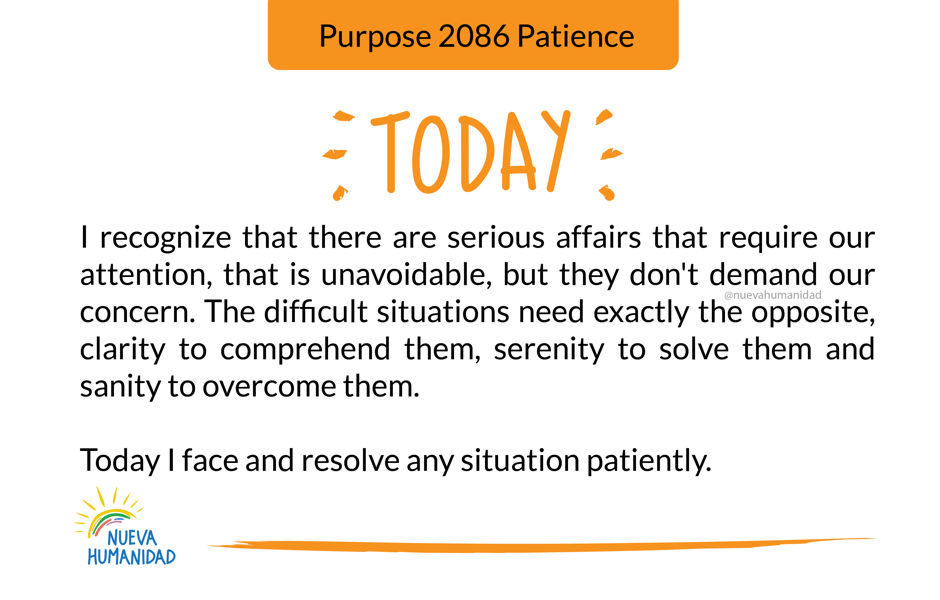 Purpose 2086 Patience