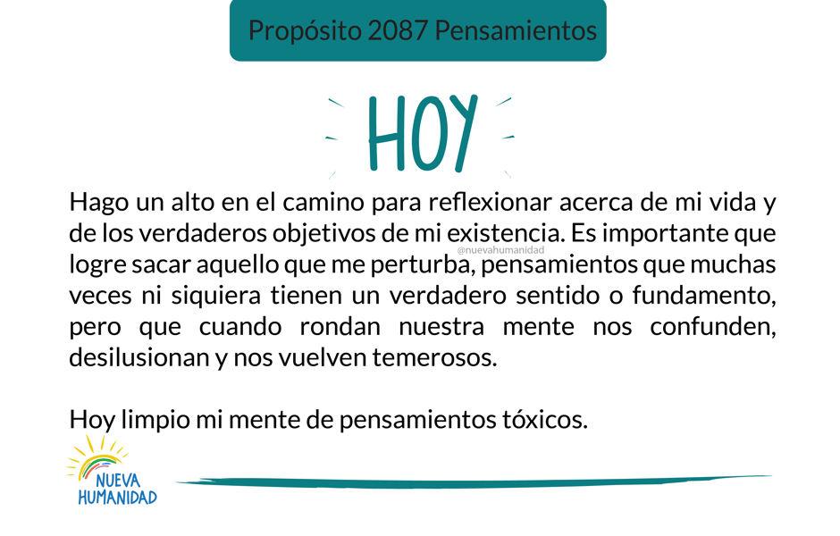 Propósito 2087 Pensamientos