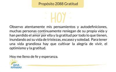Propósito 2088 Gratitud