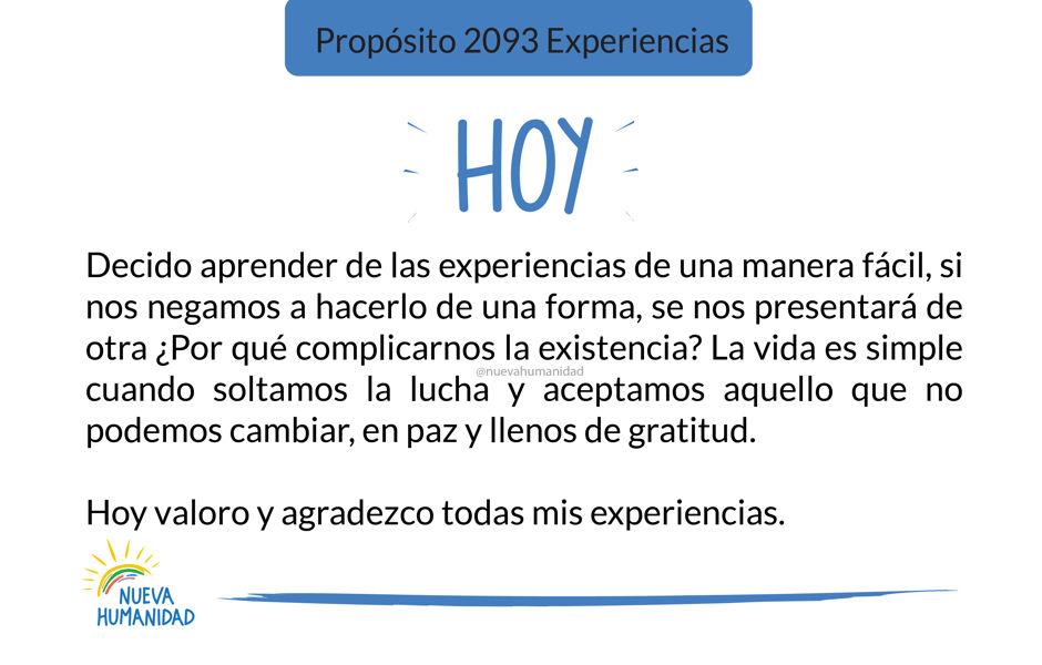 Propósito 2093 Experiencias
