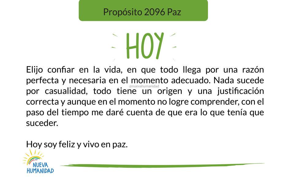 Propósito 2096 Paz
