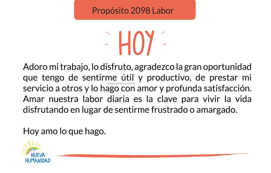 Propósito 2098 Labor