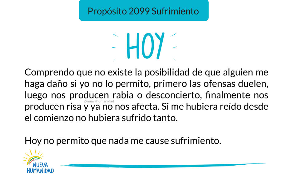 Propósito 2099 Sufrimiento