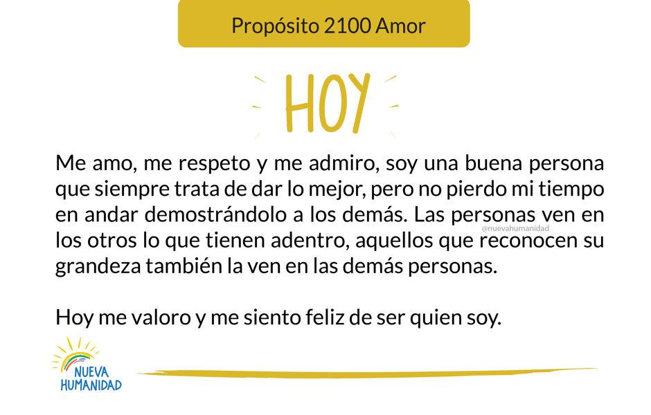 Propósito 2100 Amor