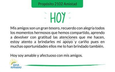 Propósito 2102 Amistad