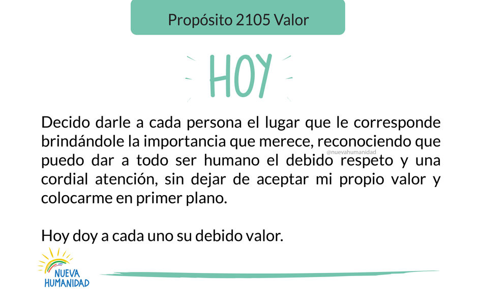 Propósito 2105 Valor