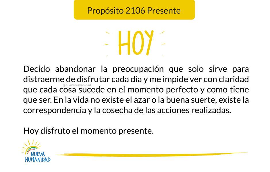 Propósito 2106 Presente