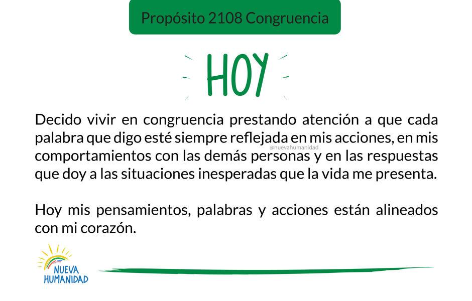 Propósito 2108 Congruencia