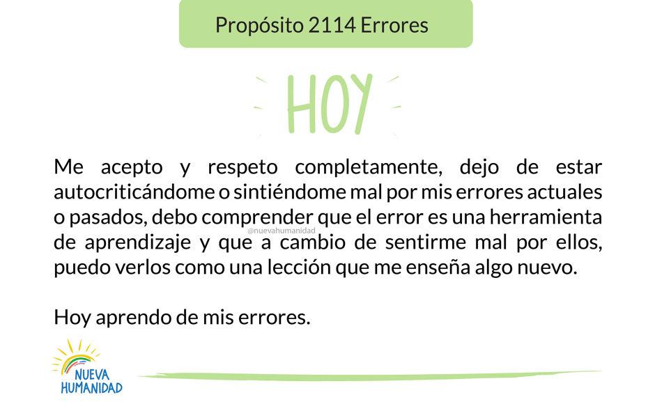 Propósito 2114 Errores