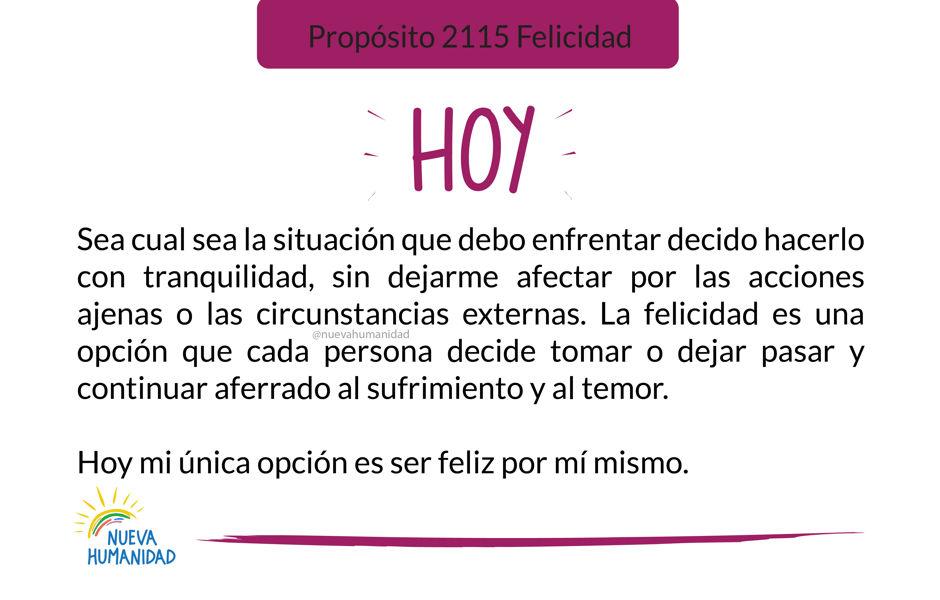 Propósito 2115 Felicidad