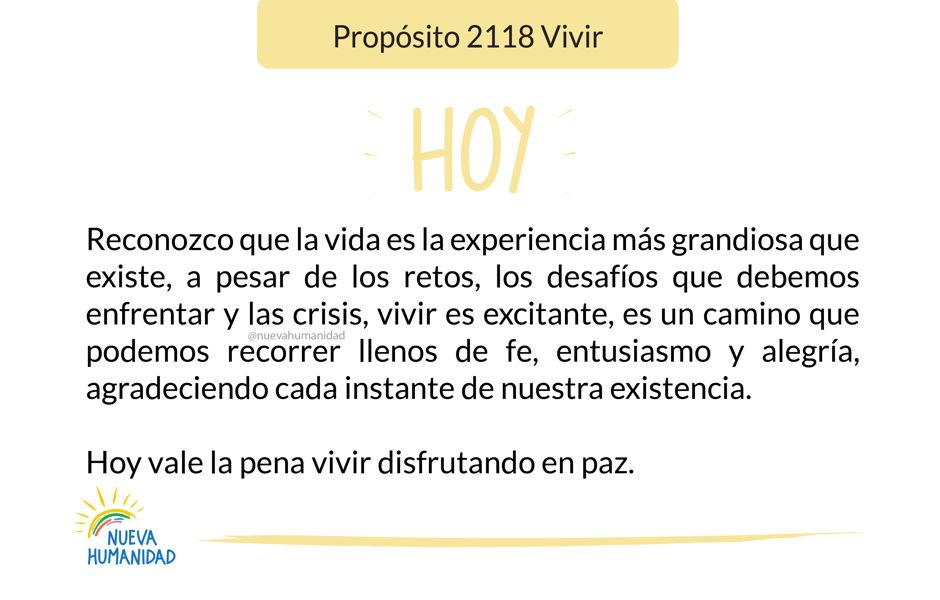 Propósito 2118 Vivir
